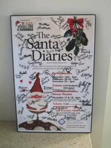 Santa Diaries Poster signed 2