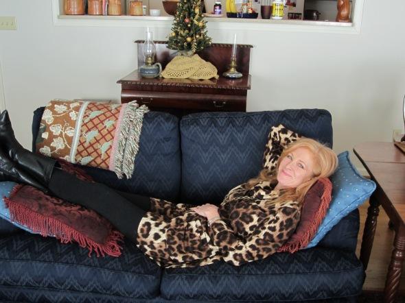 Laura watching Christmas movies 2