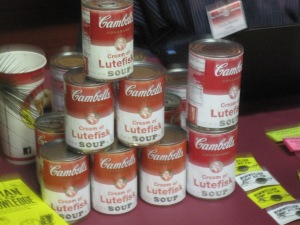 Cream of Lutefisk soup