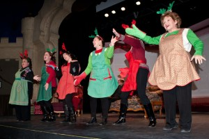 This holiday chorus line will have you laughing out loud. Photo by Edward Brown, courtesy of The Merlin Players.